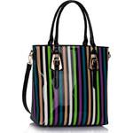 LS fashion LS dámská kabelka lakovaná proužek 340 E