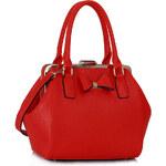 LS fashion LS dámská kabelka mašle 258 červená