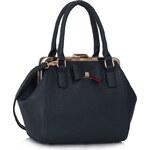 LS fashion LS dámská kabelka mašle 258 tmavě modrá