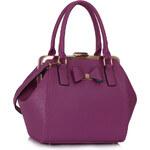 LS fashion LS dámská kabelka mašle 258 fialová