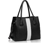 LS fashion LS dámská kabelka 210 černo-bílá