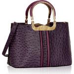 LS fashion LS dámská kabelka 304 strukturovaná fialová