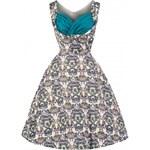 Lindy Bop retro šaty Ophelia Victorian Floral velikosti: 38