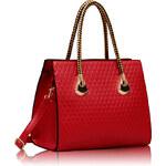 LS fashion LS dámská kabelka se zlatými držadly 113 červená