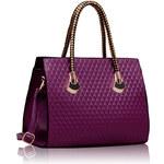 LS fashion LS dámská kabelka se zlatými držadly 113 fialová
