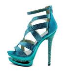 LS fashion LS dámské lodičky na dvojité platformě 00128 smaragdové Velikost: EUR 39