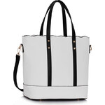 LS fashion LS dámská kabelka 0361 černo-bílá