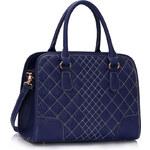 LS fashion LS dámská prošívaná kabelka 316 modrá