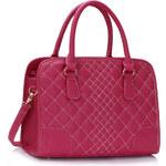 LS fashion LS dámská prošívaná kabelka 316 fuchsiově růžová