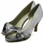 LS fashion LS dámské elegantní saténové lodičky 0133 stříbrné Velikost: EUR 36