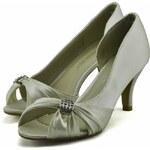 LS fashion LS dámské elegantní saténové lodičky 0133 slonová kost Velikost: EUR 36