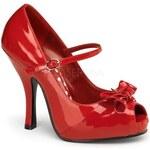 PIN UP Couture DÁMSKÉ LODIČKY RETRO Cutiepie 08 Red Patent velikost retro lodiček: 35/US5/UK2