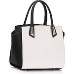 LS fashion dámská kabelka 238 černo-bílá
