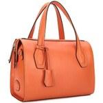 NUCELLE kožená kabelka Purddy oranžová