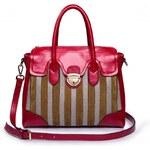 NUCELLE kožená kabelka Burlesque červená