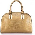 NUCELLE kožená kabelka Croccodile Metalic