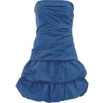 Modré volánkové mini šaty LA FEMME