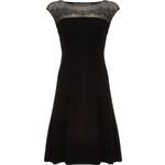 Luxusní černé šaty zdobené kamínky LA FEMME