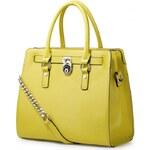 NUCELLE dámská kožená kabelka Tote žlutá