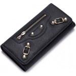NUCELLE dámská kožená peněženka černá