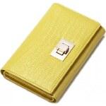 NUCELLE dámská kožená peněženka žlutá