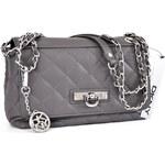 DKNY Donna Karan Kožená crossbody kabelka DKNY nappa dark grey