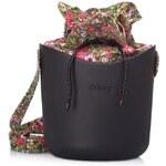 O bag O Basket černá se sadou květy růžová