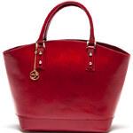 Carla Ferreri Elegantní kožená business kabelka 351 Rosso