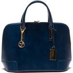 Carla Ferreri Elegantní kožená business kabelka 364S Blu
