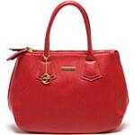 Carla Ferreri Elegantní kožená business kabelka 1098 Rosso