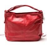 Carla Ferreri Elegantní kožená business kabelka 2088 Rosso