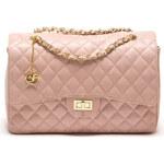 Carla Ferreri Elegantní kožená kabelka 2063 Rosa