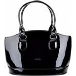 Elegantní lakovaná kabelka Grosso S37 černý lak