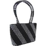 Dámská kabelka ruční výroba #03 černo-stříbrná