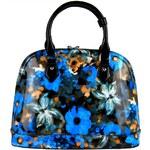 BELLA BELLY Modrá květovaná kabelka do ruky 598-BB