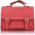 Růžová dámská aktovková kabelka LS Fashion LS00274
