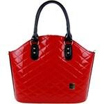 Červená prošívaná kabelka do ruky S450 GROSSO