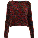 Topshop Knitted Multicolour Fluffy Top