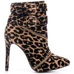 SERGIO TODZI Moderní leopardí kotníčkové boty