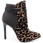 SERGIO TODZI Elegantní leopardí kotníčkové boty