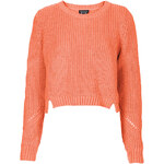 Topshop Knitted Rib Crop Sweat
