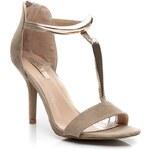 BELLUCCI Luxusní béžové semišové sandálky 38