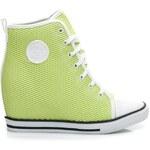 VICES Zelené tenisky s ažurovým vzorem