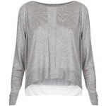 Topshop Knitted Sheer Panel Top