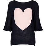 Topshop **Heart Jumper by Wal G