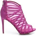 BELLE WOMEN Luxusní růžové semišové sandály 36