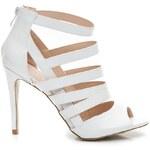 VICES Stylové bílé páskové sandály 35