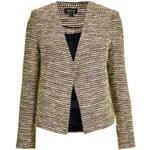 Topshop Boucle Collarless Jacket