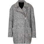 Topshop Grey Textured Ovoid Coat
