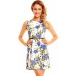 Dámské letní šaty Flower modré - modrá